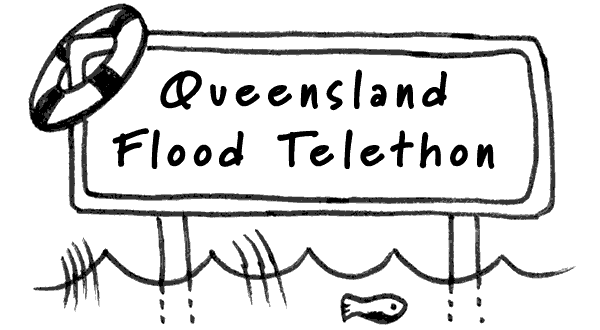 Queensland Flood Telethon case study Logo